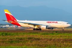 Iberia Airbus A330 EC-MLP Próximo a Despegar Tocumen Open Day 2020