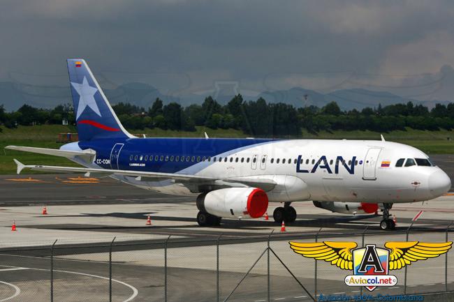 Airbus A320 de LAN Colombia