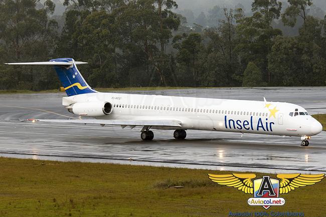 MD-80 de Insel Air en el Aeropuerto Internacional José María Córdova de Medellín (Rionegro)