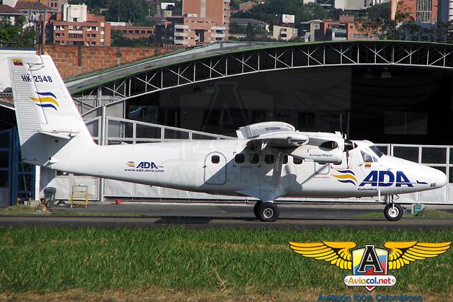 De Havilland Canadá DHC-6-300 Twin Otter de ADA en el Aeropuerto Olaya Herrera de Medellín