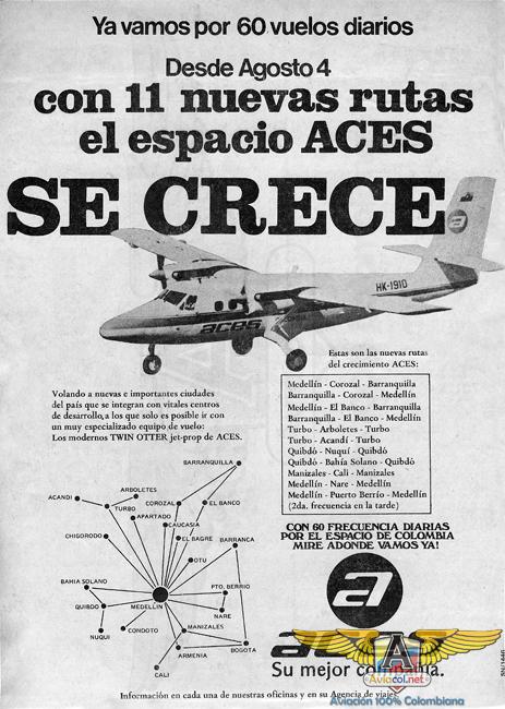 Publicidad ACES - Aviacol.net El Portal de la Aviación Colombiana
