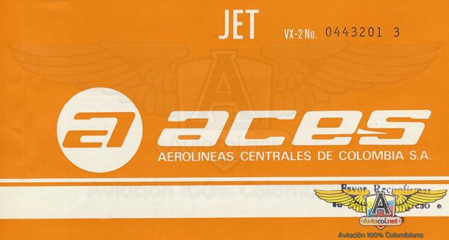 Tiquiete ACES - Aviacol.net El Portal de la Aviación Colombiana