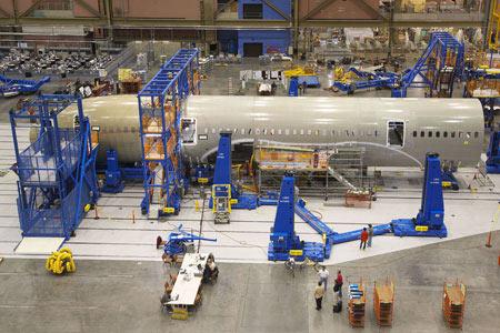 Boeing 787 Dreamliner Ensamblaje Final -  Vista de lado