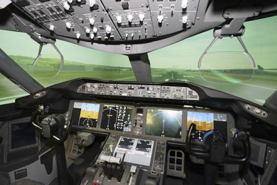 Simulador de vuelo del 787