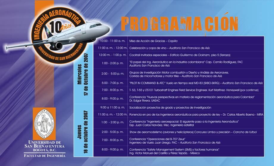 Aniversario 10 Ingeniería Aeronáutica USB