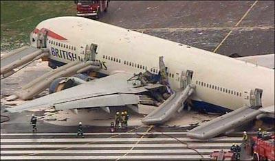 British Airways Boeing 777 Accidente Heathrow