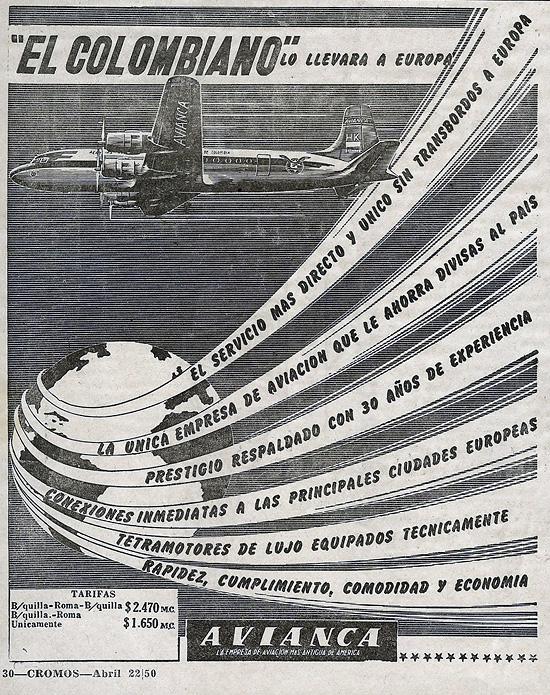 Vuele a Europa en DC-4 de Avianca