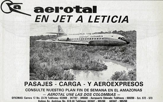 Aerotal en Jet a Leticia