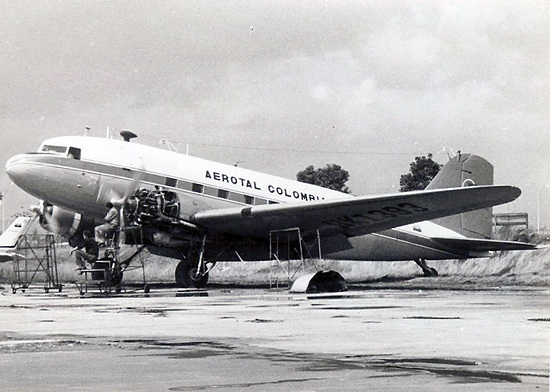 HK-1393, Douglas DC-3 de Aerotal en Eldorado