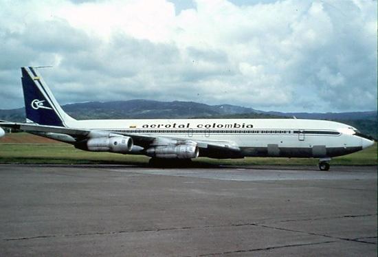 HK-2842X, Boeing 707 en Panamá luego de la suspensión de operaciones