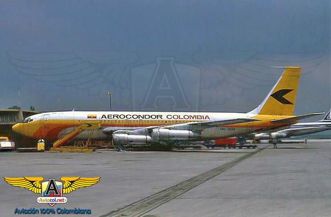 HK-1818 Boeing 707-123BF, en Eldorado.