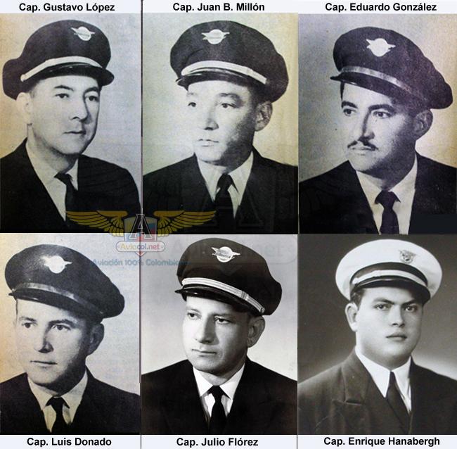 Capitanes fundadores de Aerocóndor