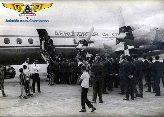 HK-777 Electra L188, en Medellín