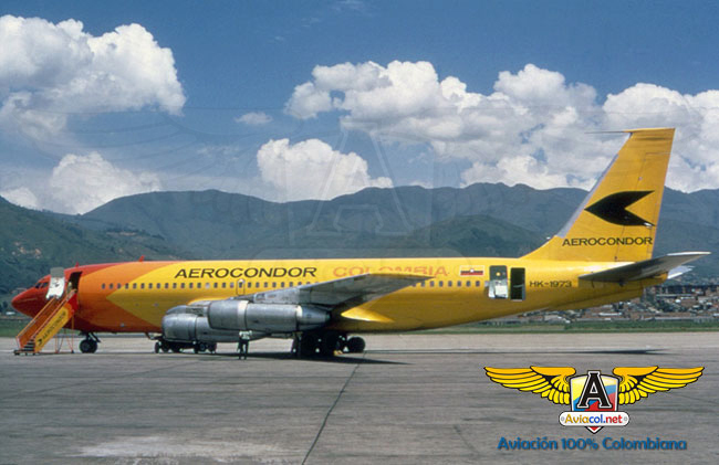 HK-1973 Boeing 720-B, en Medellín