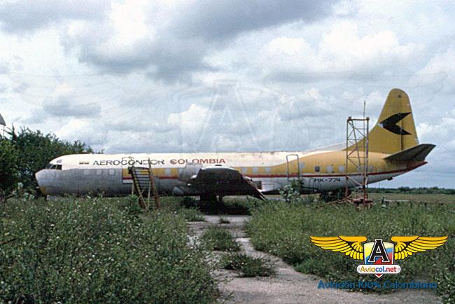 HK-774 Electra L188, en Barranquilla