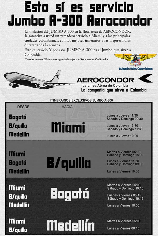 A300 itinerarios
