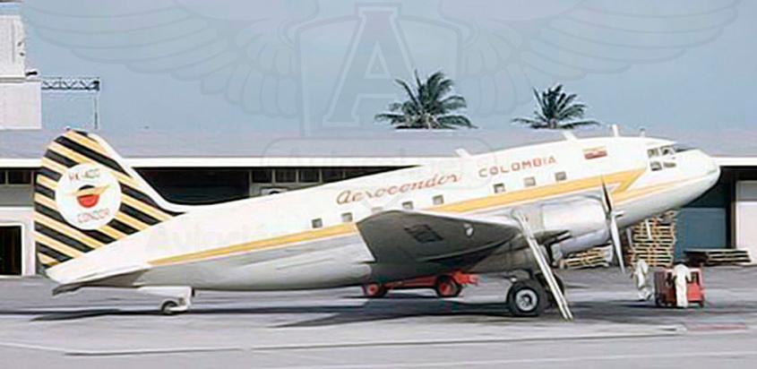 Douglas DC-3 de Aerocóndor.