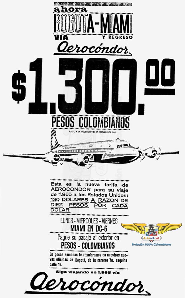 Aerocóndor DC-6 Miami