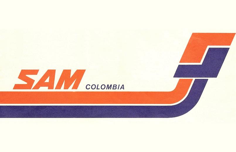 Logo de SAM (Sociedad Aeronáutica de Medellín).