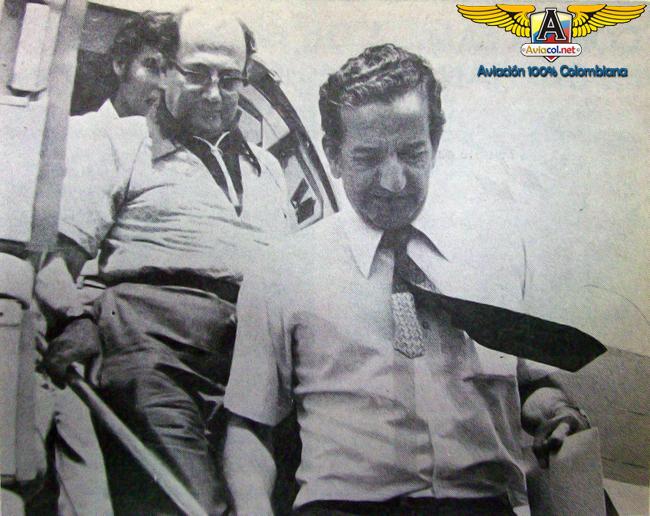 El capitán Jorge Lucena, a su regreso de Aruba, tras ser reemplazado en el comando del avión secuestrado