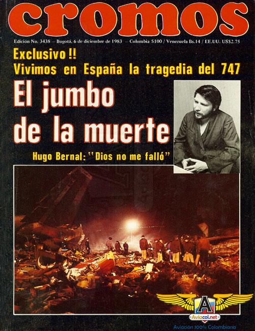Portada de Cromos sobre el accidente del Jumbo de Avianca - Aviacol.net El Portal de la Aviación Colombiana