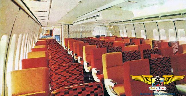 Interior 747 de Avianca - Aviacol.net El Portal de la Aviación Colombiana