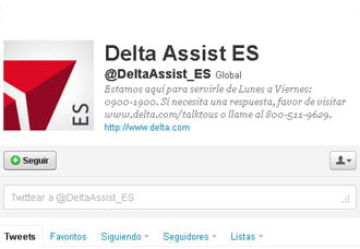 Los usuarios podrán acceder a través de @DeltaAssist_ES | Aviacol.net El Portal de la Aviación Colombiana