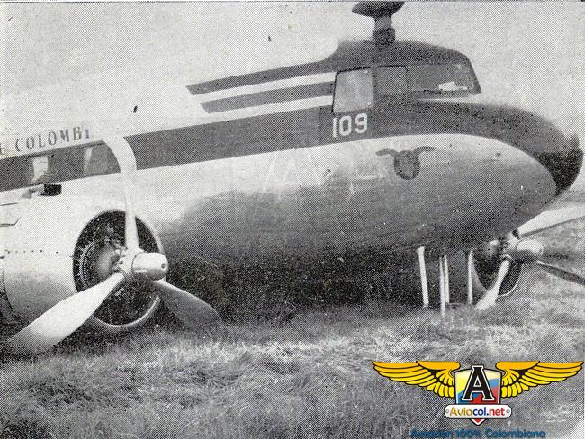 Accidente del HK-109 en Ubaté