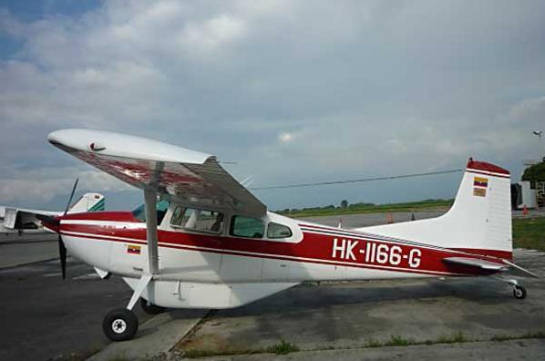 HK-1166-G, Cessna 185 desaparecida el 12 de Enero de 2012