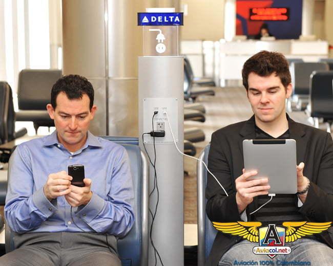 Recursos tecnológicos para los viajeros de Delta Air Lines
