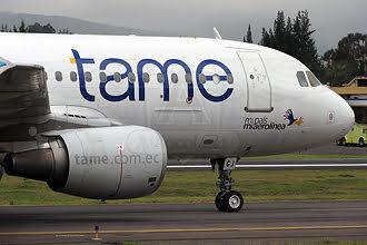 Tame, una de las Aerolíneas Ecuatorianas que vuelan a Colombia