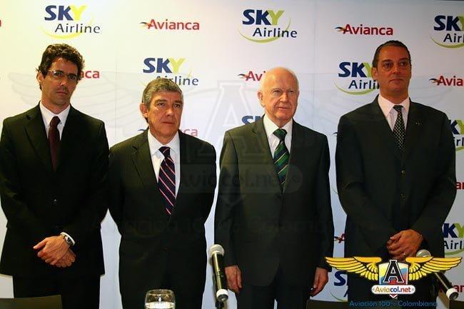 Avianca y Sky Airline de Chile firman acuerdo de código compartido | Aviacol.net El Portal de la Aviación Colombiana