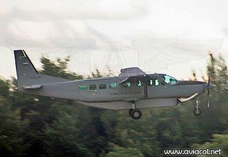 Se accidenta Cessna Caravan del Ejército Nacional