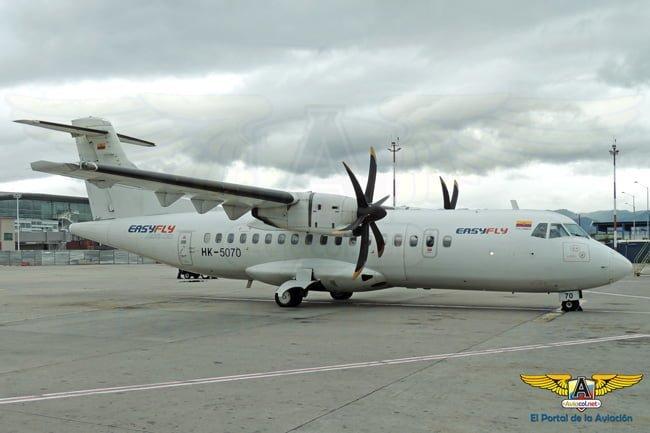 ATR 42-500 de EasyFly en Bogotá.