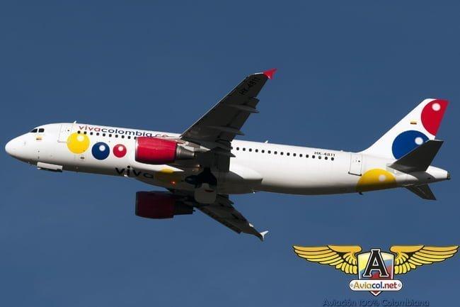 Airbus A320 de VivaColombia