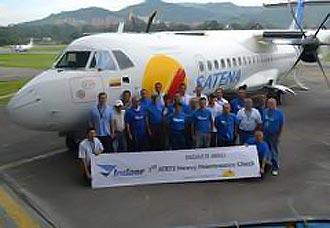 Indaer anuncia finalización del primer mantenimiento mayor de ATR-72 de Satena | Aviacol.net El Portal de la Aviación Colombiana