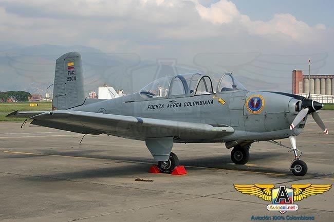 Avión T-34 de la FAC se accidentó en Cali   Aviacol.net El Portal de la Aviación Colombiana