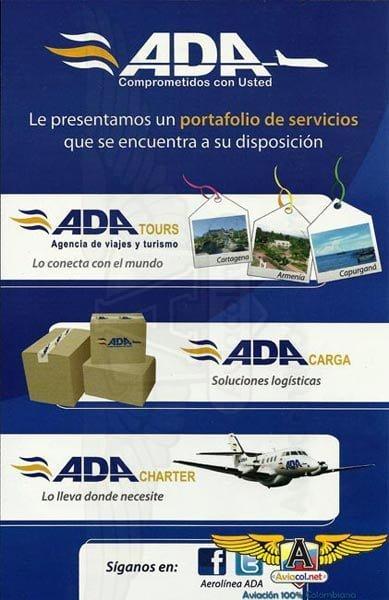 Publicidad de ADA | Aviacol.net El Portal de la Aviación Colombiana