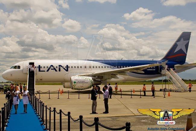 LAN Colombia realizó el primer vuelo comercial con biocombustible en Colombia | Aviacol.net El Portal de la Aviación Colombiana