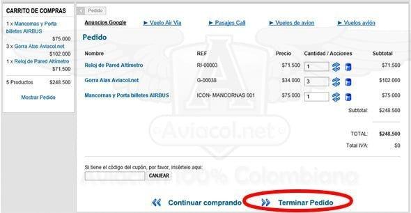 Cómo comprar en nuestra Tienda del Piloto | Aviacol.net El Portal de la Aviación Colombiana