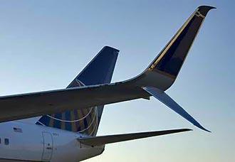 United hizo primer vuelo comercial con winglet dividido scimitar   Aviacol.net El Portal de la Aviación Colombiana