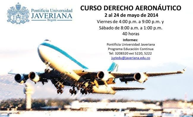Curso Derecho Aeronáutico, Universidad Javeriana