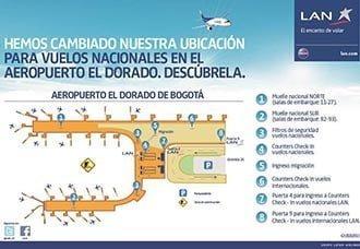 LAN implementa plan de comunicación a pasajeros por cambios en El Dorado | Aviacol.net El Portal de la Aviación Colombiana