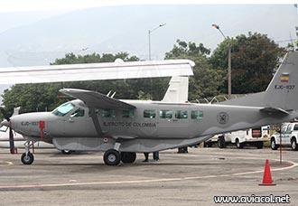 Cessna Caravan del Ejército de Colombia aterrizó de emergencia en el Cauca | Aviacol.net El Portal de la Aviación en Colombia y el Mundo