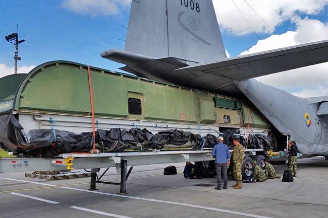 C-130 Hercules de la FAC transportó aerodeslizador de la Armada Nacional | Aviacol.net El Portal de la Aviación en Colombia y el Mundo
