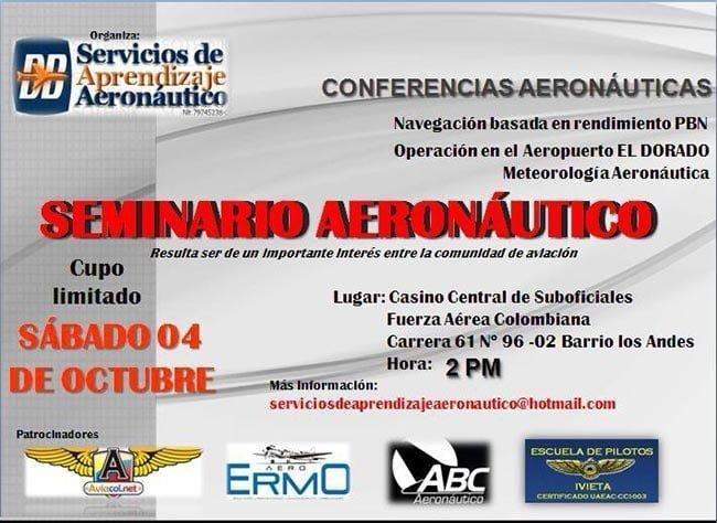 Seminario Aeronáutico en Bogotá | Aviacol.net El Portal de la Aviación en Colombia y el Mundo