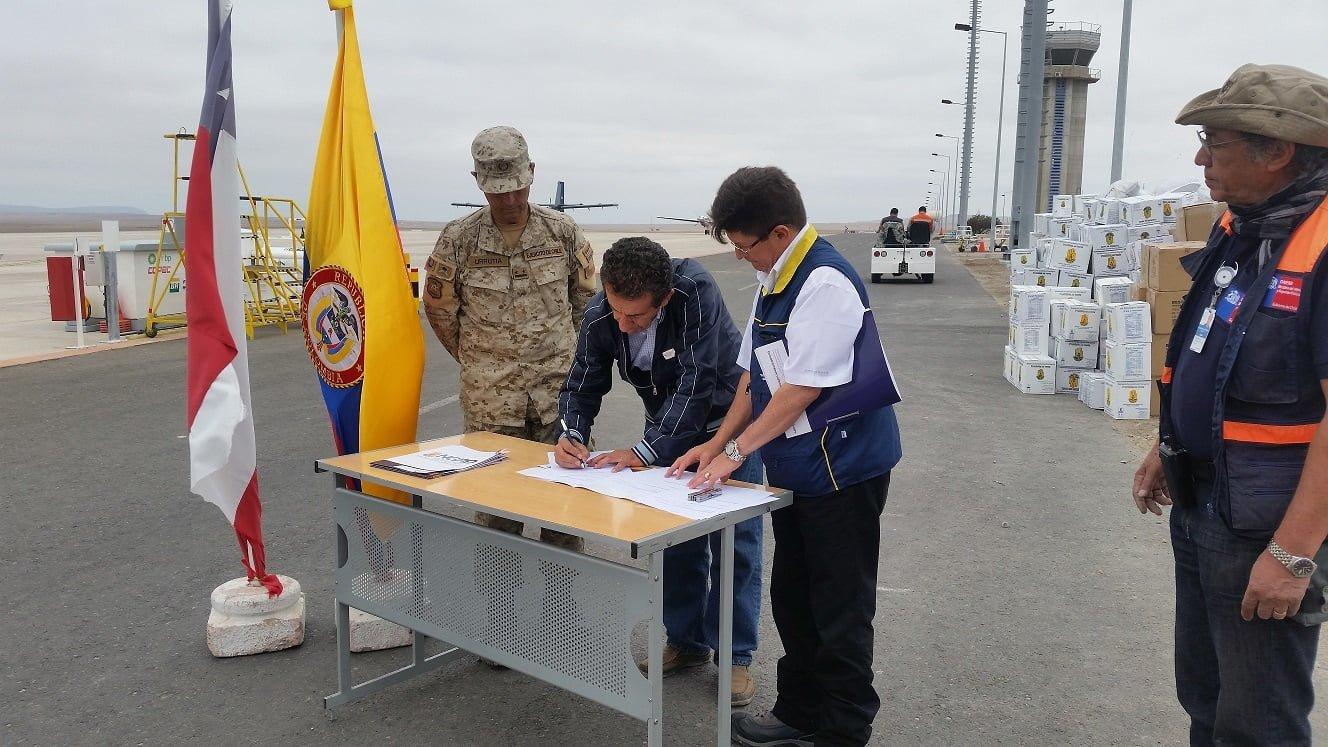 Apoyo humanitario de la FAC también llegó a unos 500 colombianos residenciados en Chile | Aviacol.net El Portal de la Aviación