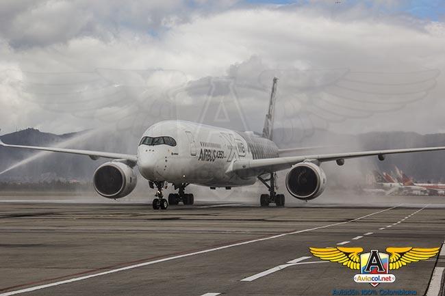 El Airbus A350 ya está en Colombia | Aviacol.net El Portal de la Aviación