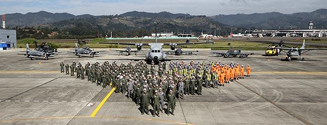Foto oficial del ejercicio Ángel de los Andes 2015