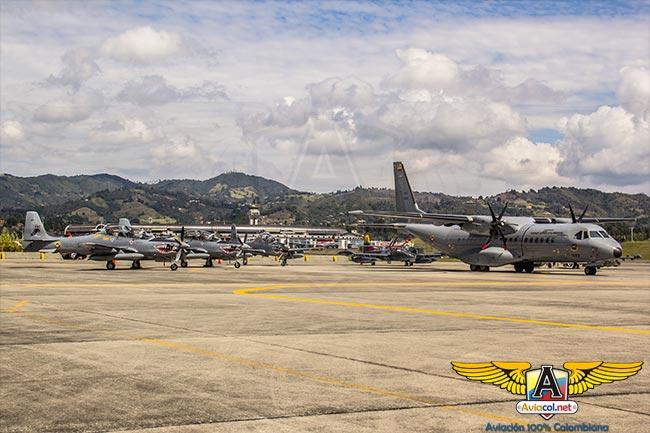 Aviones CASA C295 y Embraer A29B Super Tucano en Ángel de los Andes 2015